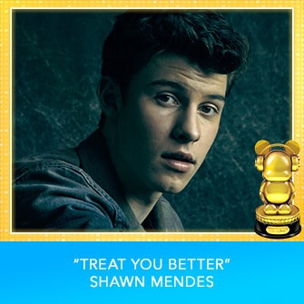 "RDMA 2017 Winner - INTERNATIONAL - SONG OF THE YEAR - ""Treat You Better"" by Shawn Mendes"