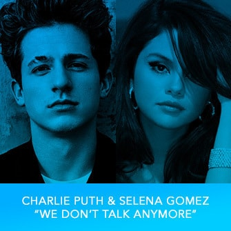 "RDMA 2017 Winner - BEST COLLABORATION - Charlie Puth & Selena Gomez ""We Don't Walk Anymore"""