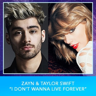 "RDMA 2017 Nominee - BEST COLLABORATION - Zayn & Taylor Swift ""I Don't Wanna Live Forever"""