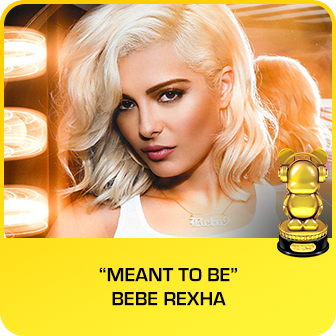 "RDMA 2018 Winner - RADIO DISNEY COUNTRY FAVORITE SONG - ""Meant To Be"" by Bebe Rexha & Florida Georgia Line"