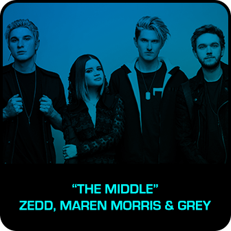 "RDMA 2018 Winner - SONG OF THE YEAR - ""The Middle"" by Zedd, Maren Morris & Grey"