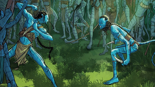 Artwork featuring the Na'vi from Avatar: The Next Sequel