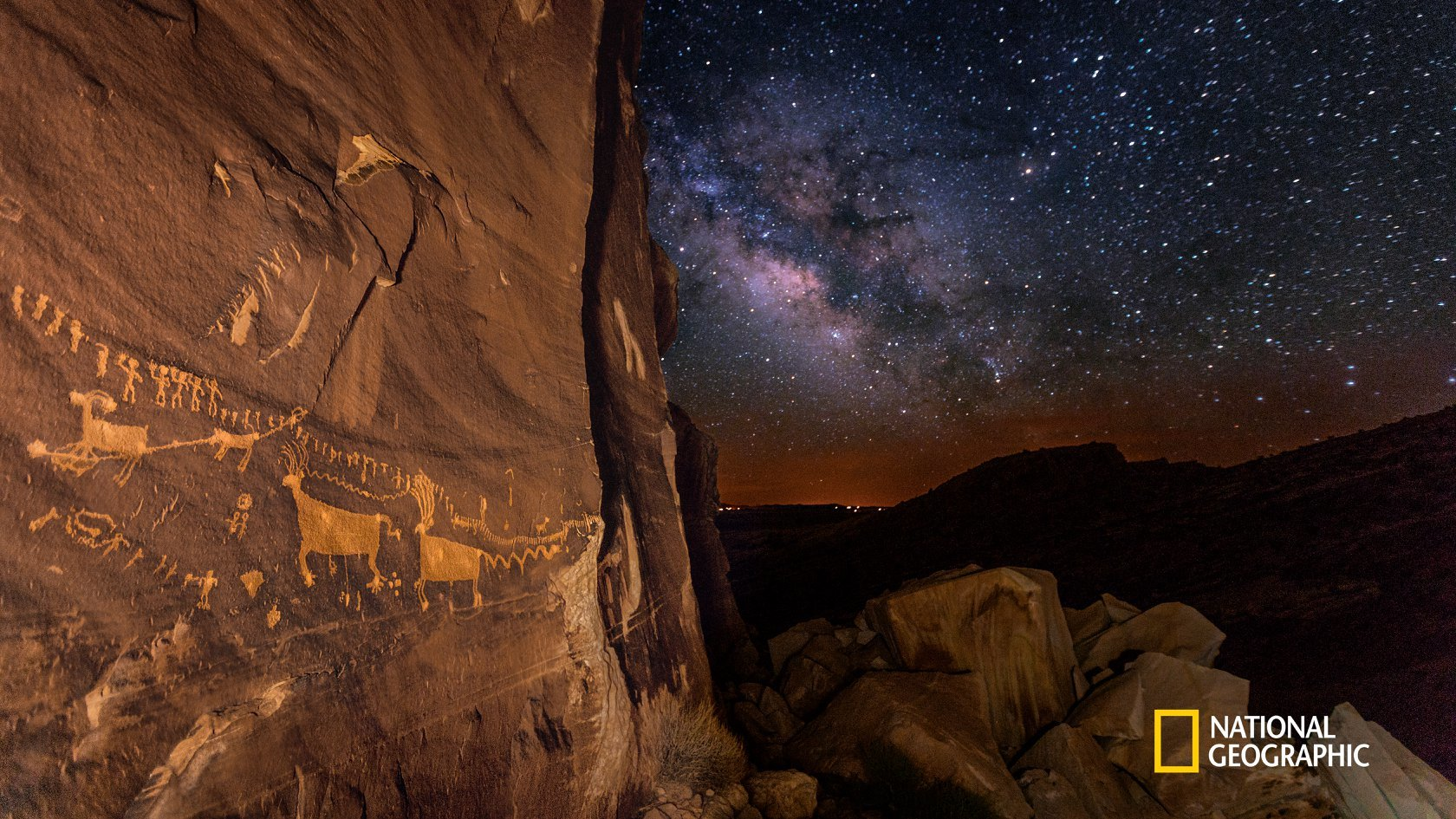 Ancient art and starry skies