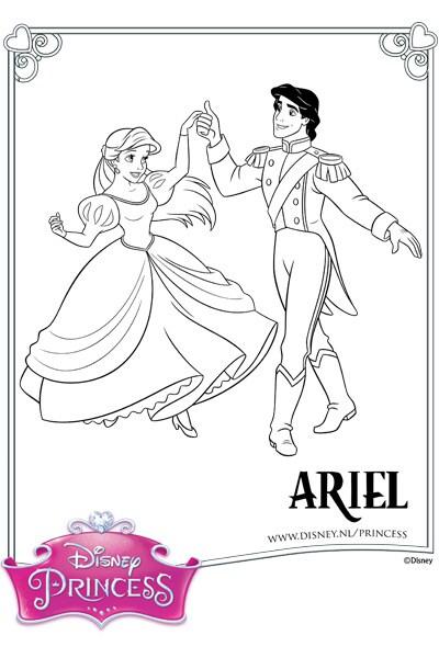 Kleurplaat Ariel en Erik