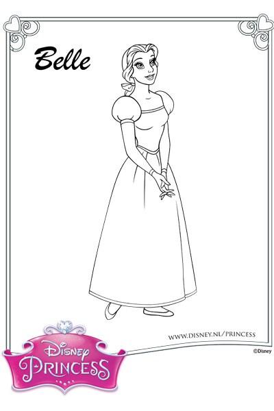 Kleurplaat Belle 2