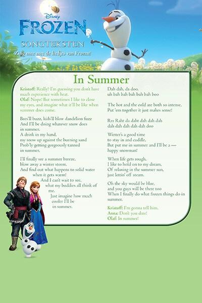 Songtekst 'In Summer'