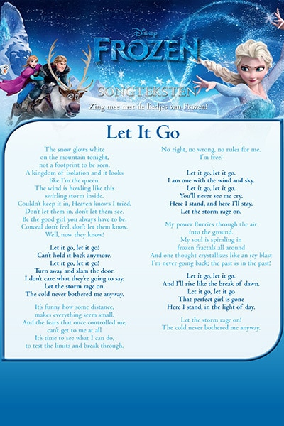 Songtekst 'Let it Go'