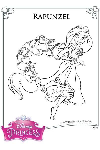 Kleurplaat Rapunzel