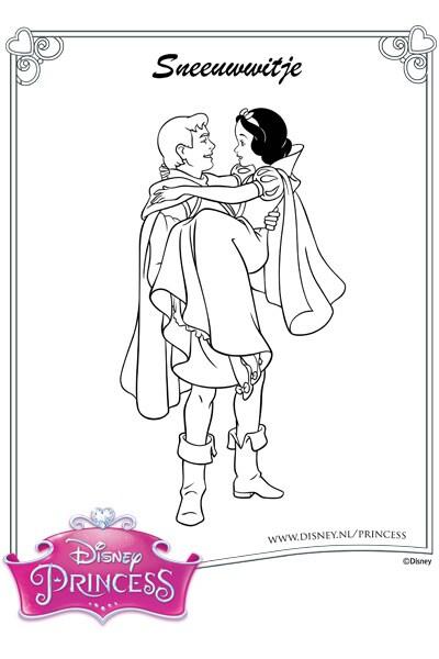 Kleurplaat Sneeuwwitje en de Prins