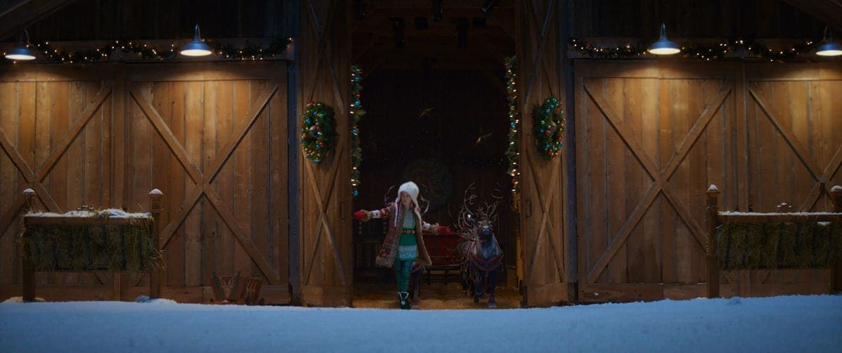 Anna with sled
