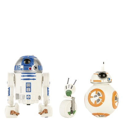 R2-D2, BB-8, D-0 Action Figures