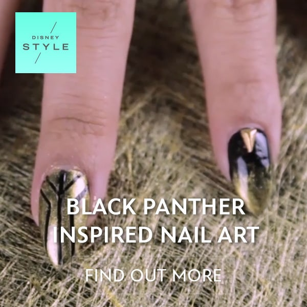 Disney Style - BLACK PANTHER INSPIRED NAIL ART