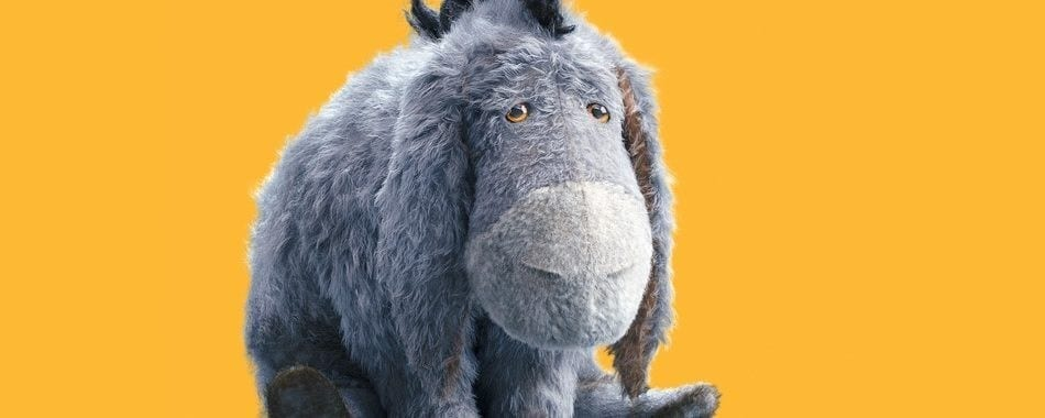 "Eeyore from Disney's ""Christopher Robin"""