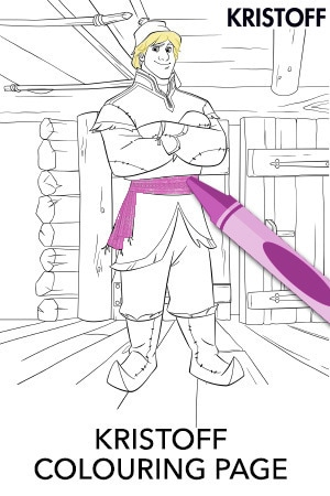 Kristoff Colouring Page