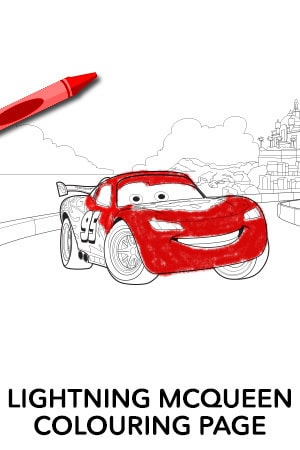 Lightning McQueen Colouring Page 2