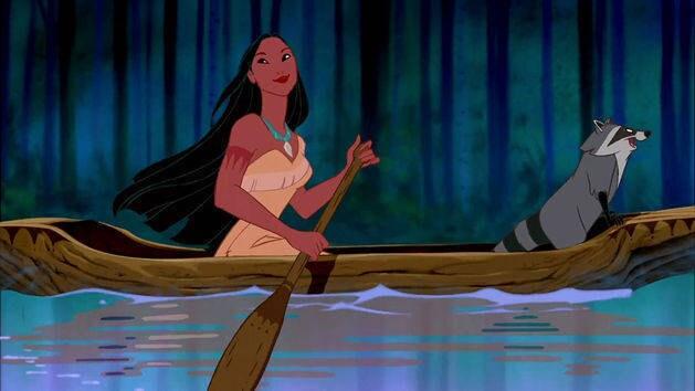 """Pocahontas : Chanson """"Au détour de la rivière"""""""