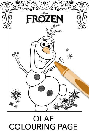 Olaf Colouring Page