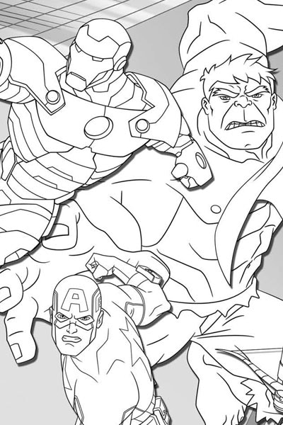 Avengers Assemble Coloring Page | Disney XD | Malaysia