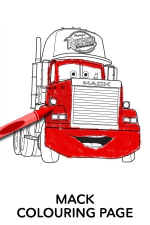 Mack Colouring Page