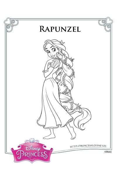 Colorea con Rapunzel