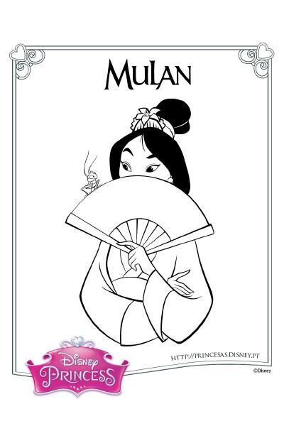 Colorir com a Mulan 2
