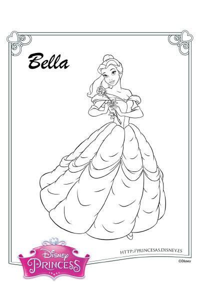 Colorea con Bella