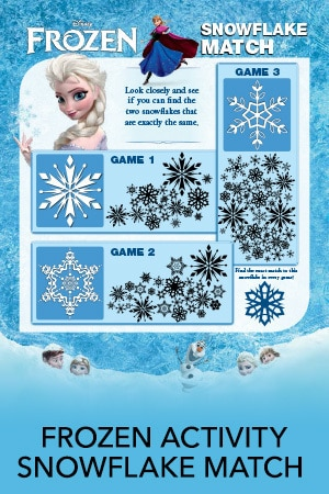 Snowflake Match Activity