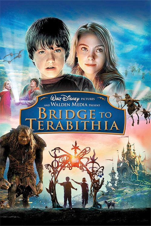 a bridge to terabithia Tired of school bullies and problems at home, jess and leslie escape into the woods, where they find the fantasy kingdom of terabithia.