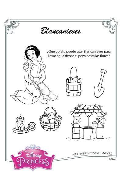 Actividades con Blancanieves