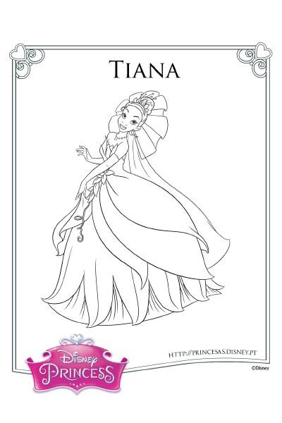 Colorir com a Tiana 3