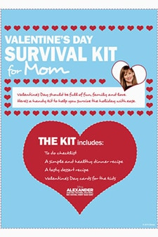 Alexander and the Terrible, Horrible, No Good, Very Bad Day - Valentine's Day Survival Kit for Mom