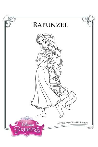 Colorir com a Rapunzel 4