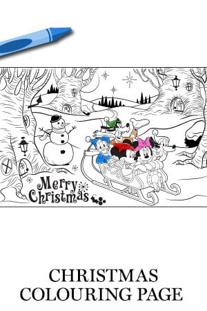 Mickey & Friends Christmas Colouring Page