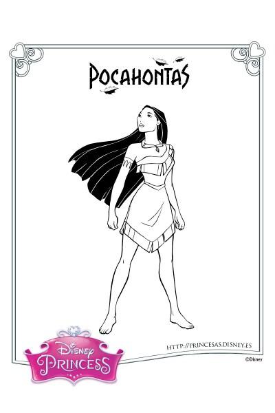 Colorea con Pocahontas