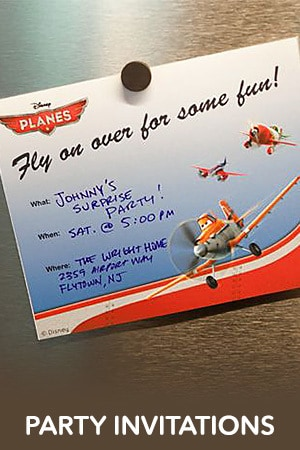 Planes Party Invitations