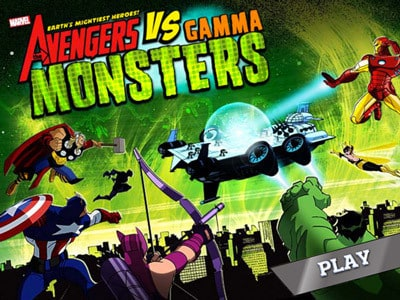 The Avengers vs. Gamma Monsters