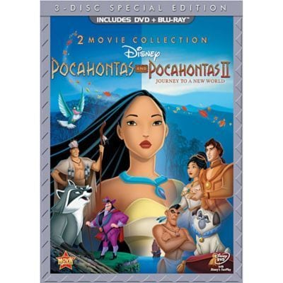 pocahontas disney movies 2 movie collection dvd combo