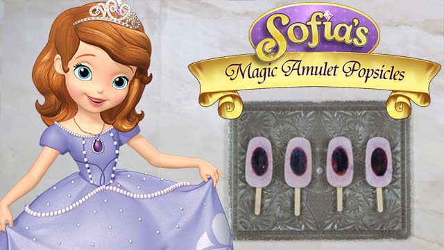 Dishes Inspired By Disney: Sofia's Magical Amulet Berry Frozen Yogurt Pops