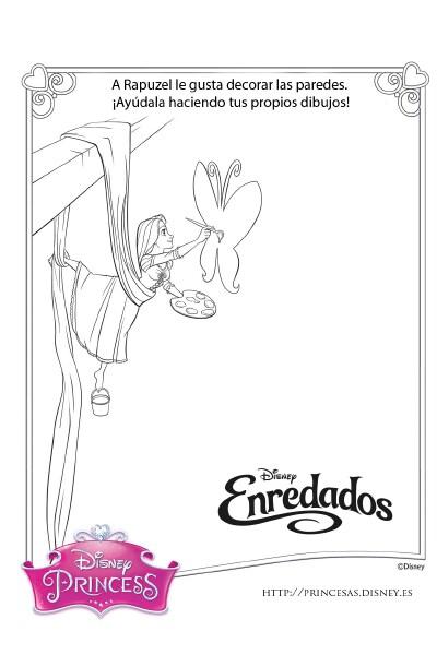 Rapunzel Actividades - dibuja