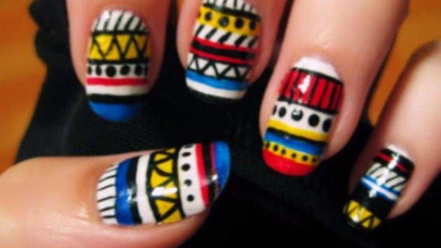 Tribal print nail art cutepolish disney video video thumbnail for tribal print nail art prinsesfo Image collections