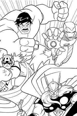 avengers earths mightiest heroes coloring page - Free Printable Coloring Pages Avengers