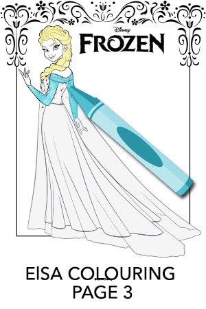 Elsa Colouring Page 3
