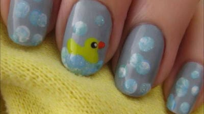 Cute Rubber Duck Nails