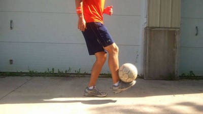 Soccer Tricks - How to Catch a Soccer Ball on your Foot