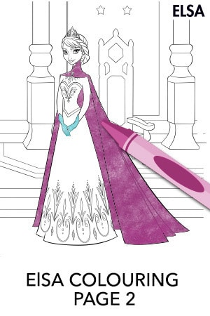 Elsa Colouring Page 2