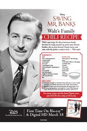 Saving Mr. Banks - Chili Recipe