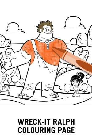 Wreck It Ralph - Coloring Page