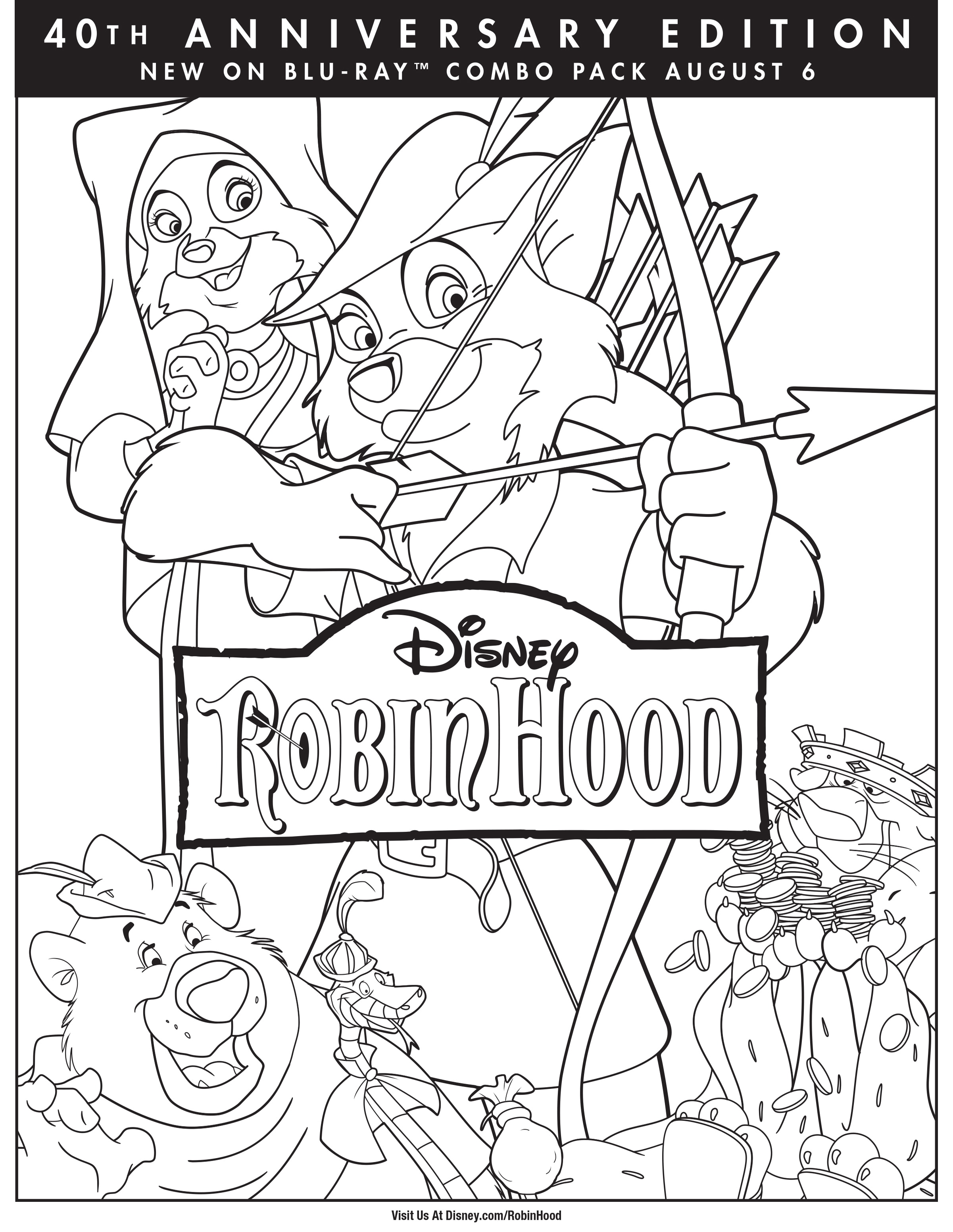 robin hood disney movies - Disney Robin Hood Coloring Pages