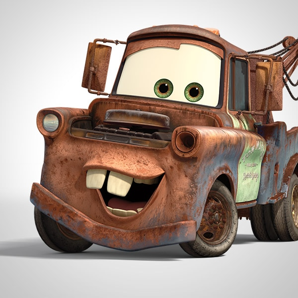 tow view side Cars movie mater