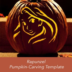 Rapunzel Pumpkin Carving Template